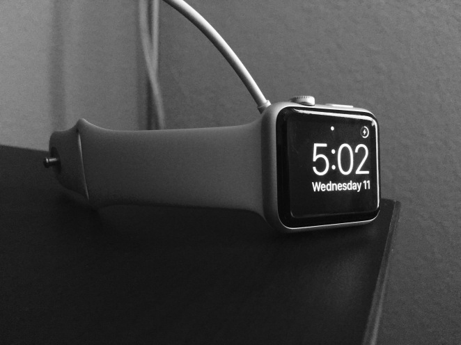 Black and White Apple Watch
